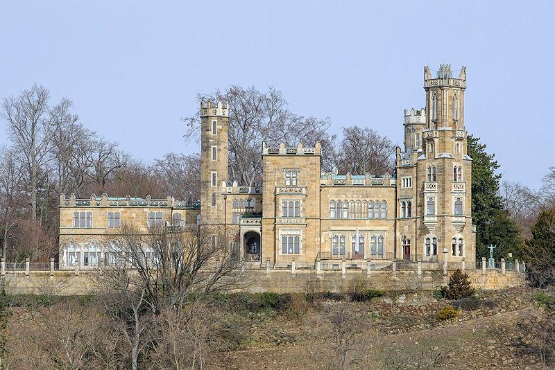 Schloss Eckberg befindet sich in Privatbesitz.