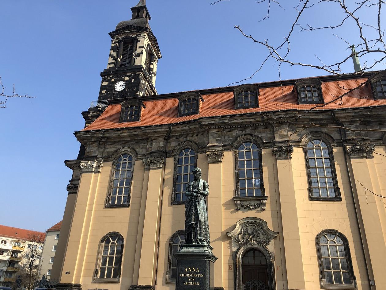 Die Annenkirche verlor 1945 ihren Dachstuhl.