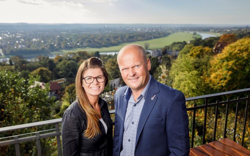Der Luisenhof wir auch als Balkon Dresdens bezeichnet. Familie Rühle ist einer unserer Gesprächspartner.
