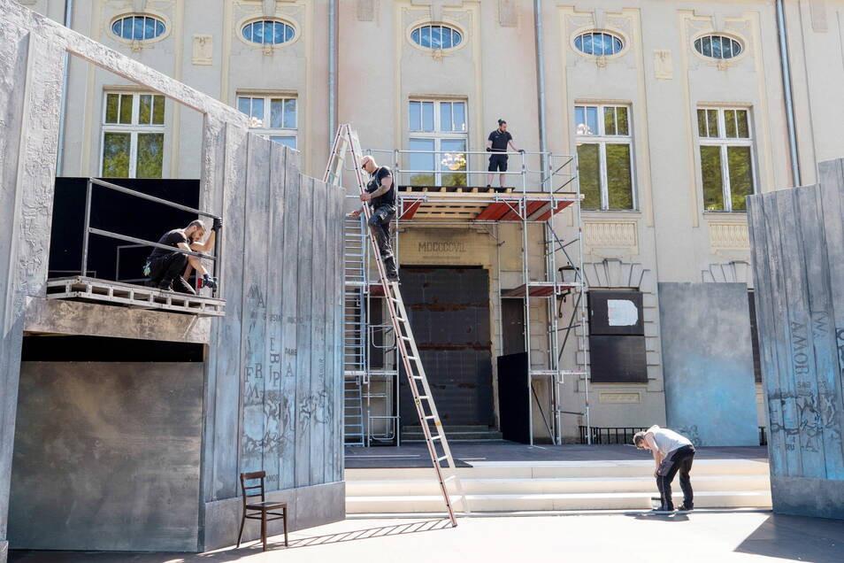 Görlitzer Sommertheater baut Bühne