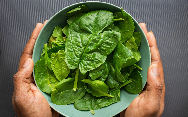 Eine Portion Spinat enthält viele wichtige Nährstoffe und Vitamine.