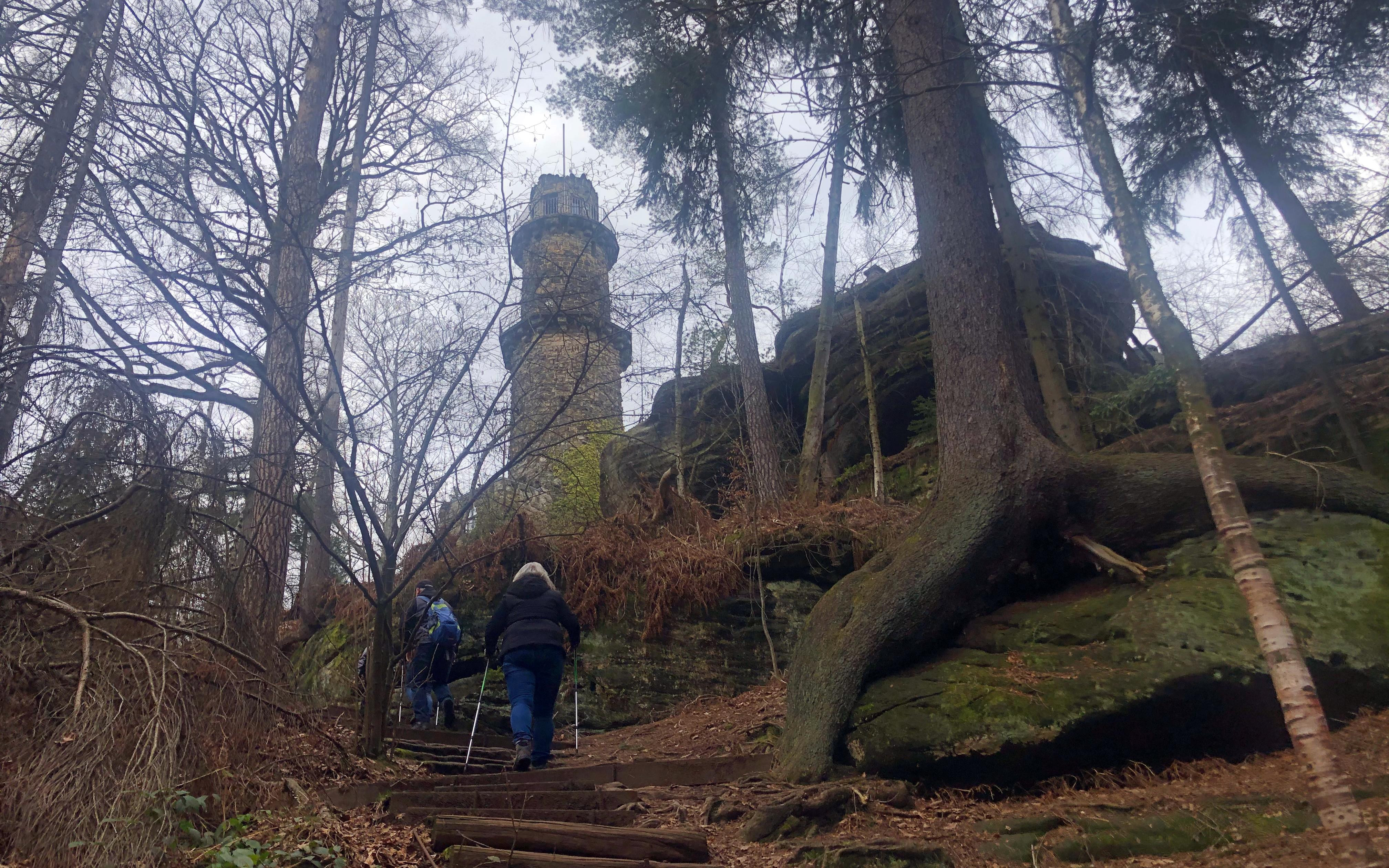 Für den dritten und letzten Cache brachte ich den Aufstieg auf den Pfaffenstein hinter mich.