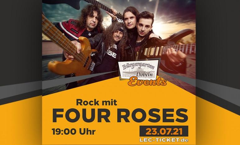 Die Cover Rockband Four Roses spielt in Döbeln.