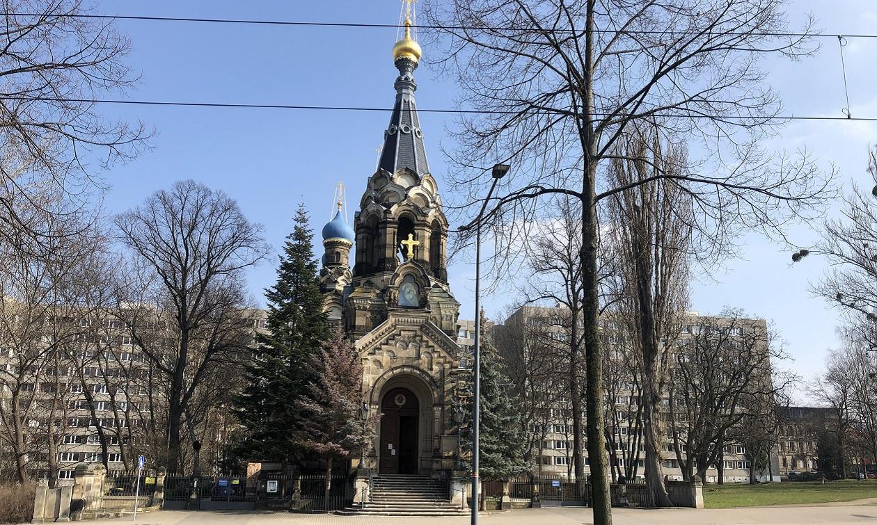 Die russisch-orthodoxe Kirche in der Südvorstadt ist ein echter Hingucker.