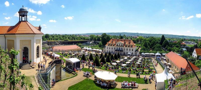 Schloss Wackerbarth bietet zu jeder Weinsorte das passende Menü.