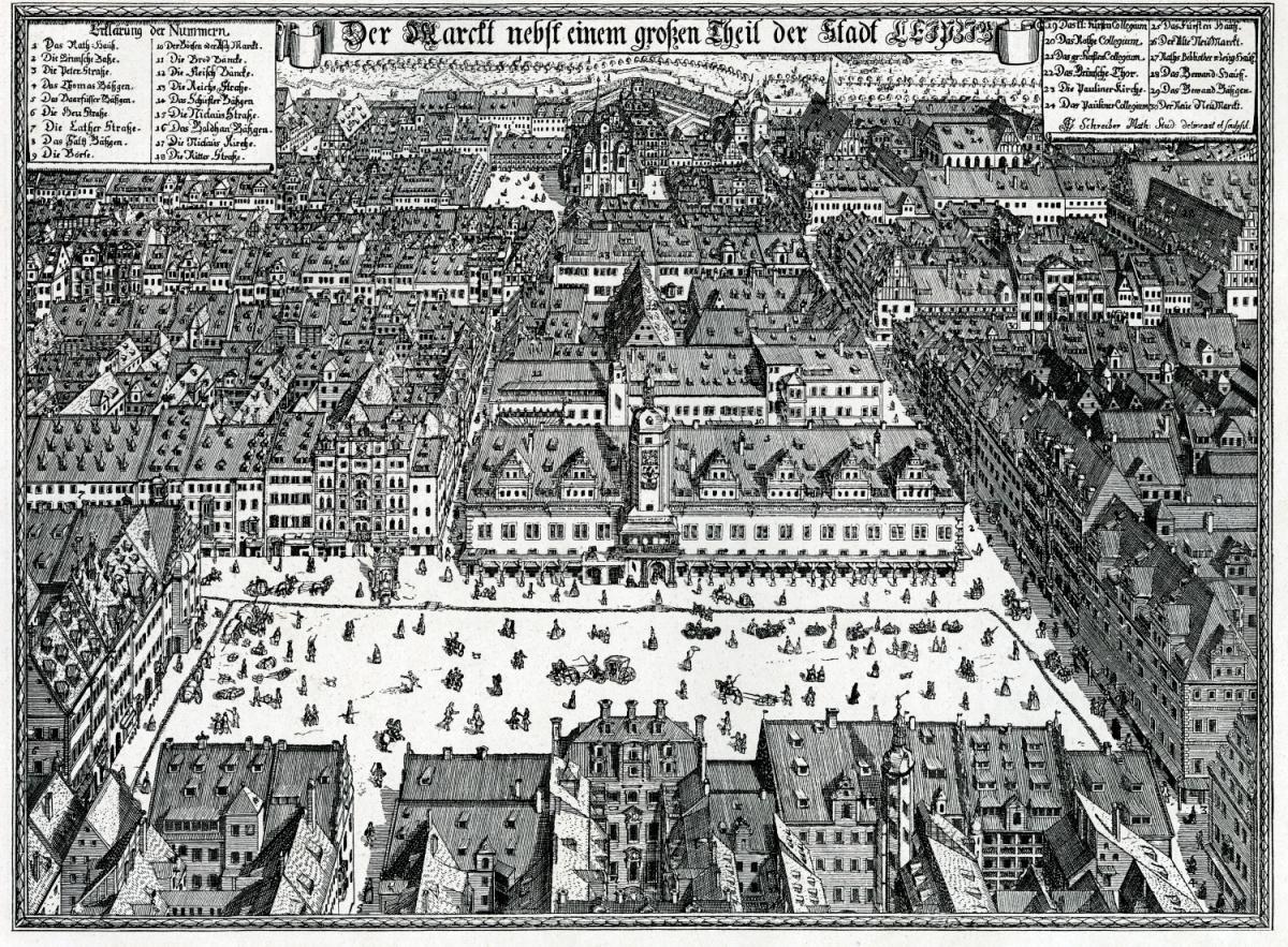 Einer von vielen Blicken auf das historische Leipzig.