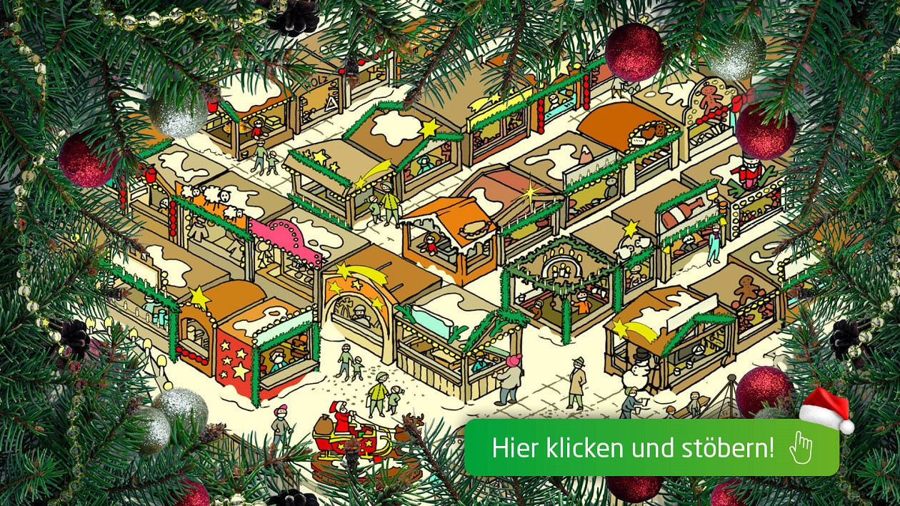 Lässt sich durchstöbern - Sachsens virtueller Weihnachtsmarkt.