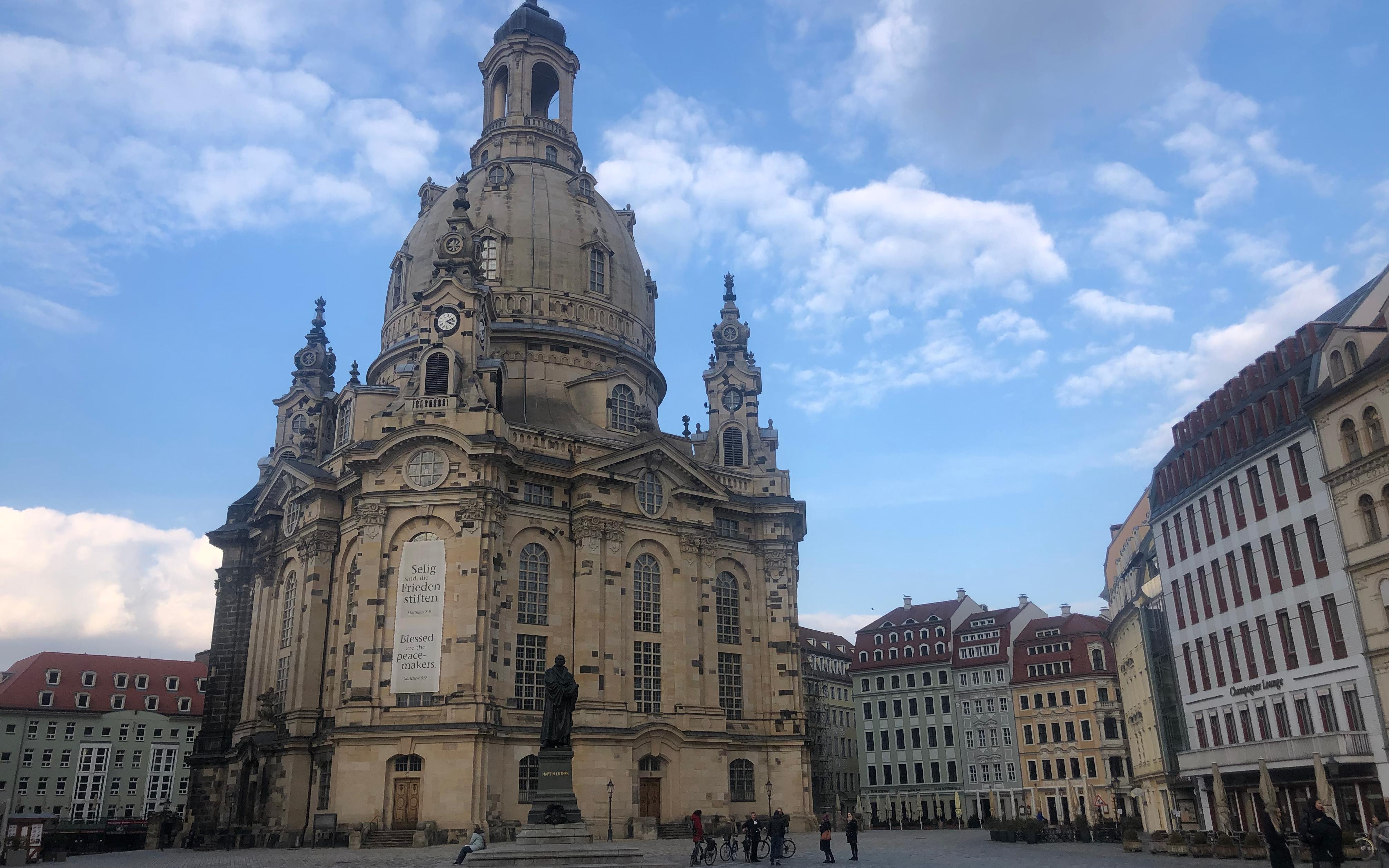Meine Runde führte mich auch an der wunderschönen Frauenkirche vorbei.