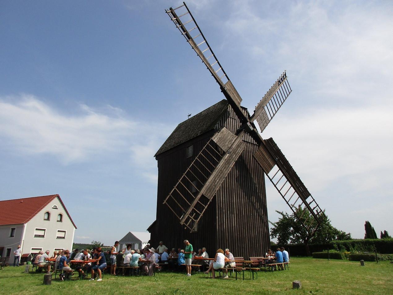 Regelmäßig lädt der Rotsteinverein als Betreiber der Bockwindmühle zum Mühlentag ein. Pfingsten 2021 leider nur in abgespeckter Form.