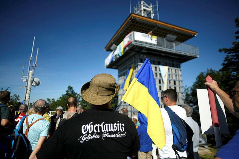 Erst im August 2020 eröffnet und schon von vielen bestiegen - der neue Turm auf der Lausche.