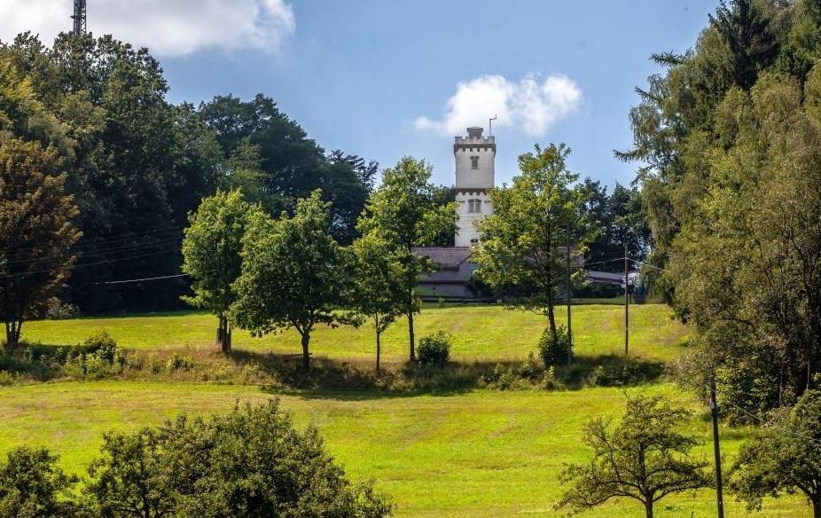 Der Turm auf dem Schwedenstein wurde 1898 errichtet. Ein Schwedenkönig war hier freilich nie.
