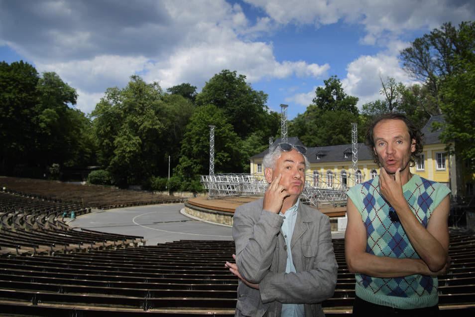 Tom Pauls und Olaf Schubert freuen sich aufs Publikum in der Jungen Garde.