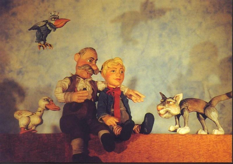 Alle gegen einen - Ente, Großvater und Peter gegen den Wolf.