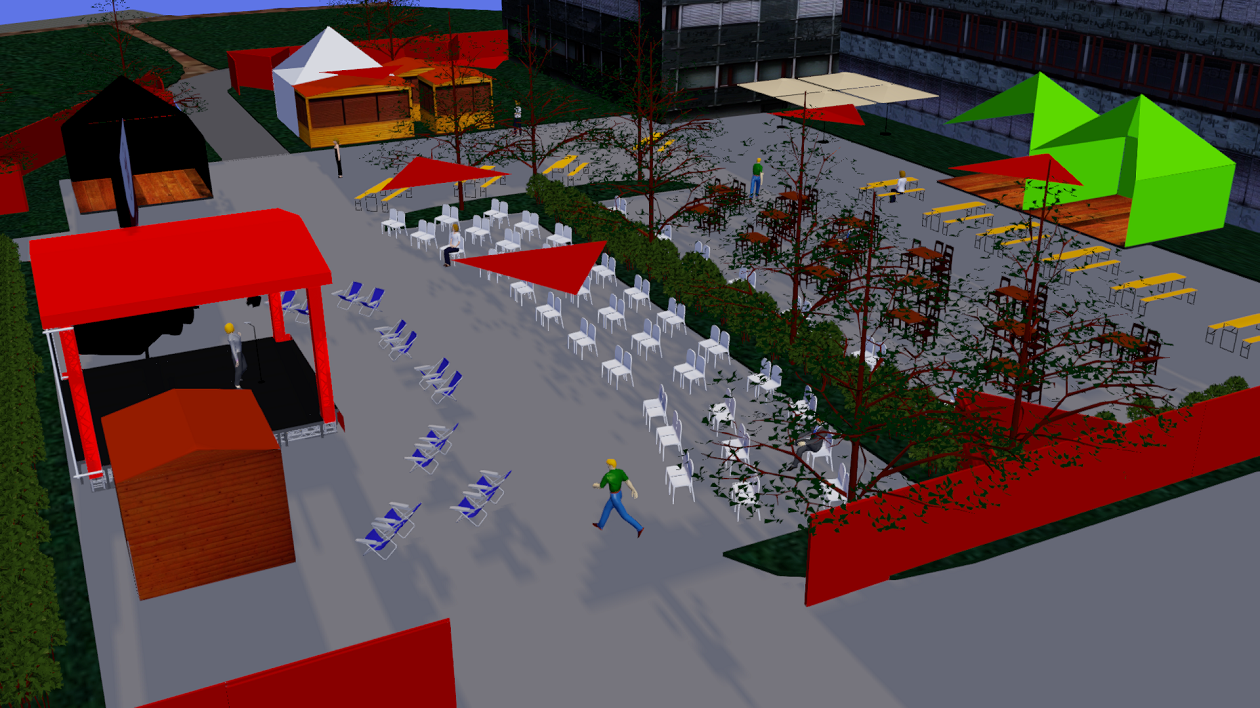 Am Haus der Presse entsteht in den nächsten Wochen der Augusto-Sommergarten.