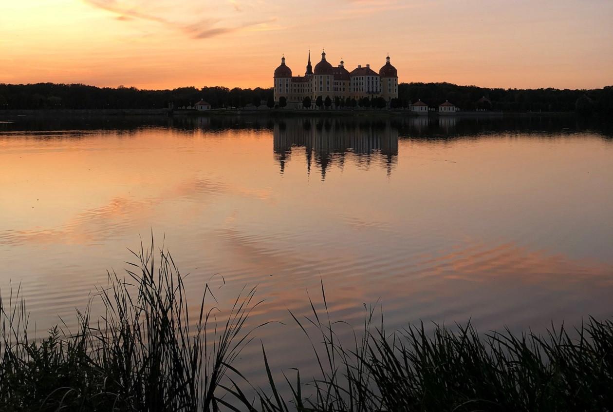 Schloss Moritzburg lässt sich sozusagen als Zugabe betrachten.